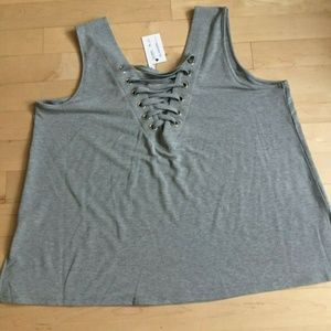 Cable & Gauge tank top gray Brand New sz 3X Plus